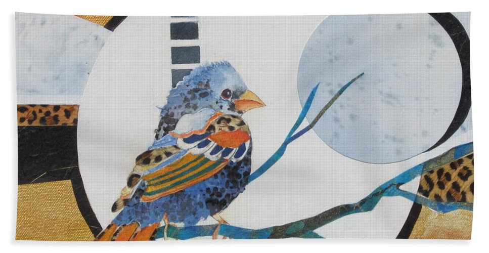 Bird Bath Sheet featuring the painting Birds Eye View by Deborah Ronglien