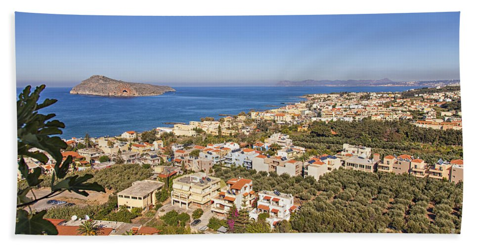 Scenery Hand Towel featuring the photograph Birds Eye View Of Crete Greece by Sophie McAulay