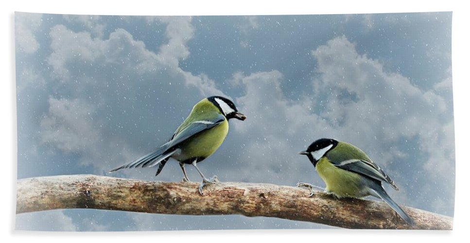 Decoration Bath Sheet featuring the photograph Birds by Heike Hultsch