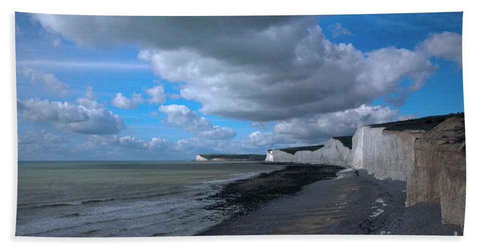 Beach Bath Sheet featuring the photograph Birling Gap Beach by Deborah Benbrook
