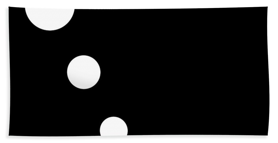 Black Bath Sheet featuring the digital art Black And White Art 160 by Ely Arsha