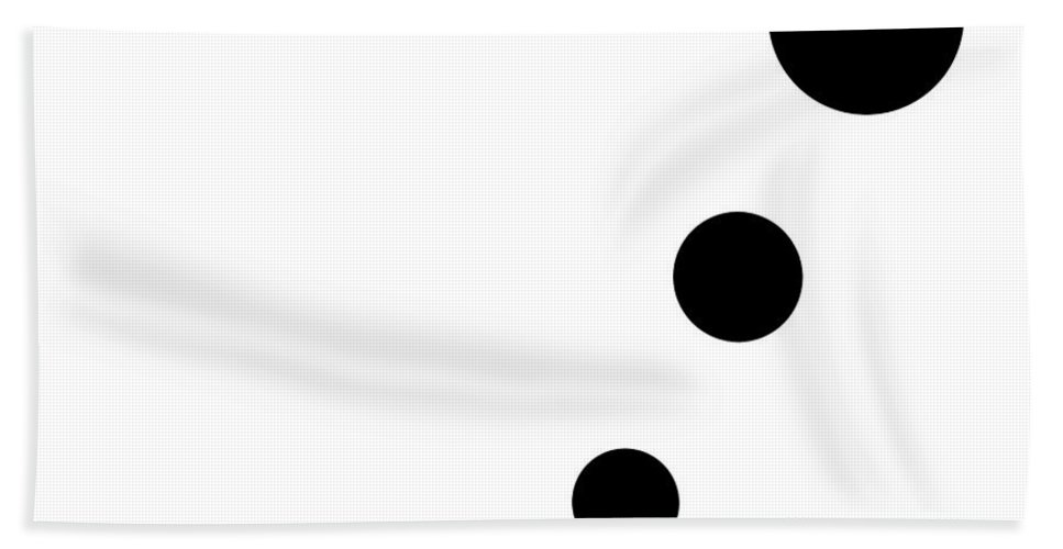 Black Hand Towel featuring the digital art Black And White Art 161 by Ely Arsha