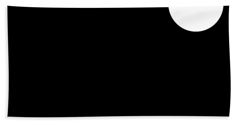 Black Hand Towel featuring the digital art Black And White Art 162 by Ely Arsha