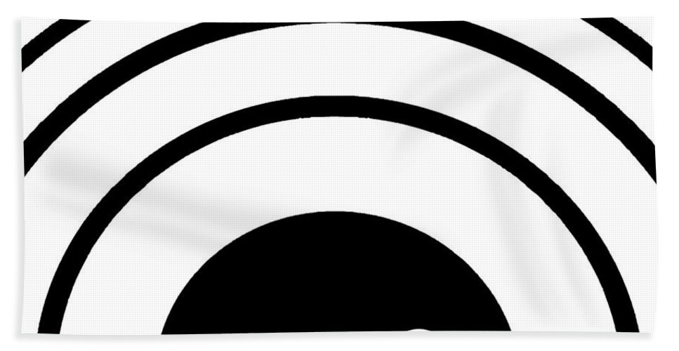 Black Hand Towel featuring the digital art Black And White Art 167 by Ely Arsha