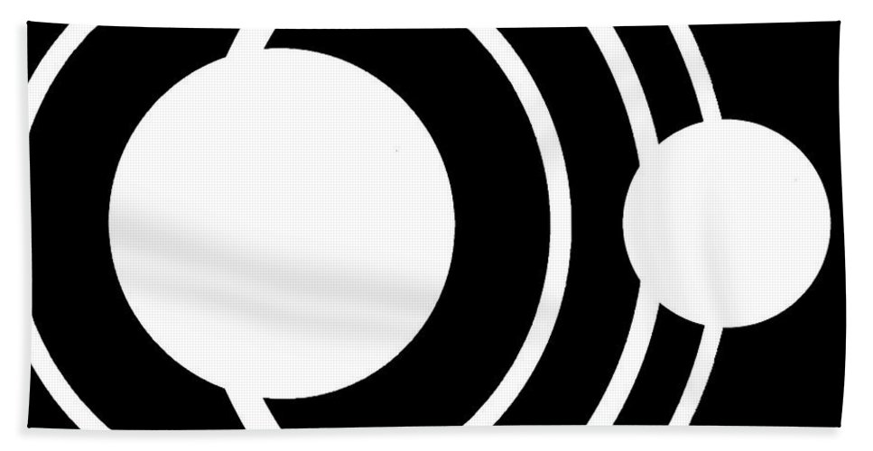 Black Bath Sheet featuring the digital art Black And White Art 170 by Ely Arsha