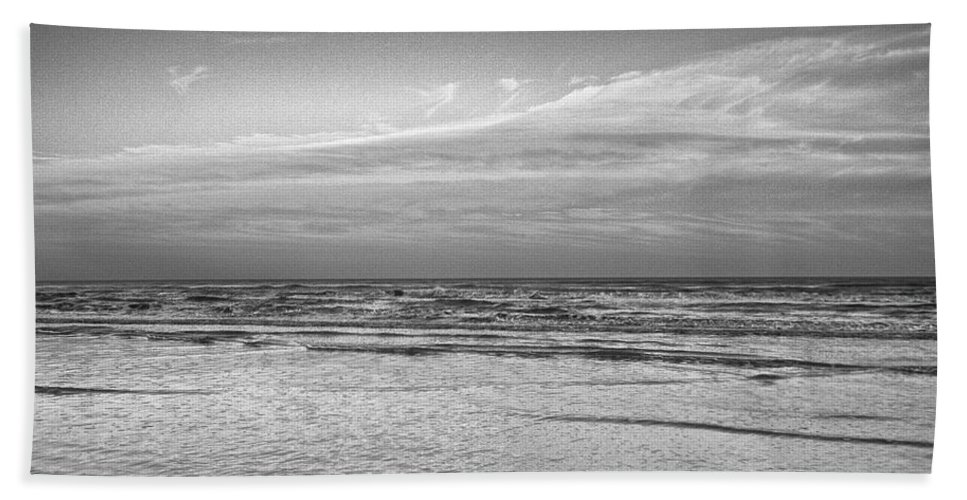 Ocean Bath Sheet featuring the photograph Black And White Seascape by Kristina Deane