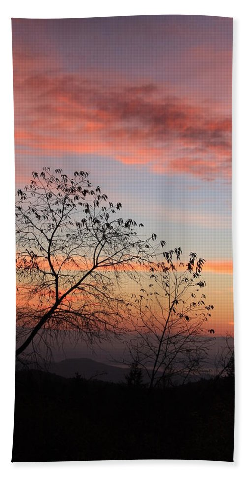 Blue Ridge Parkway Bath Sheet featuring the photograph Black Balsam Spur Road Sunrise-blue Ridge Parkway by Mountains to the Sea Photo