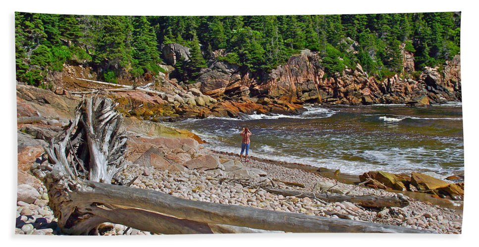 Black Brook In Cape Breton Highlands Np Hand Towel featuring the photograph Black Brook In Cape Breton Highlands Np-ns by Ruth Hager