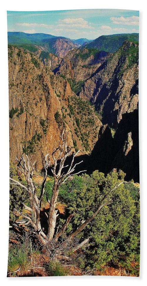 Colorado Bath Sheet featuring the photograph Black Canyon by Benjamin Yeager