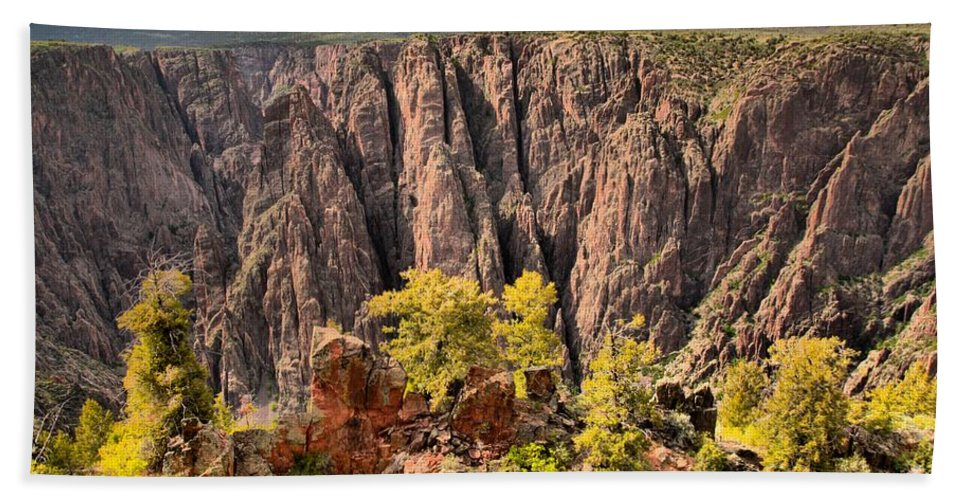 Black Canyon Hand Towel featuring the photograph Black Canyon Spires by Adam Jewell