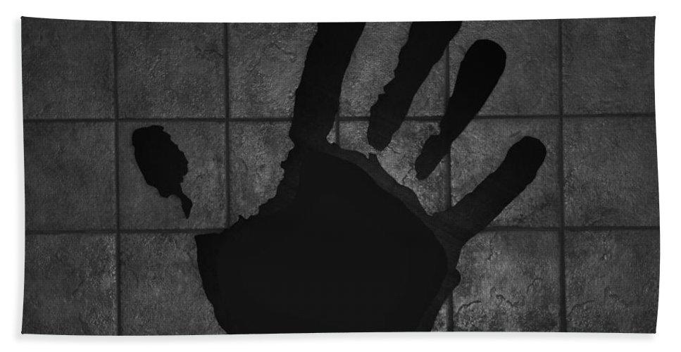Hand Bath Sheet featuring the photograph Black Hand by Rob Hans