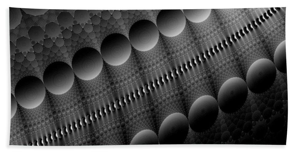 Fractal Hand Towel featuring the digital art Black Pearls by GJ Blackman