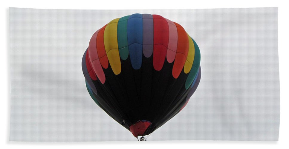 Hot Air Balloons Bath Sheet featuring the photograph Black Rainbow by Jamie Smith