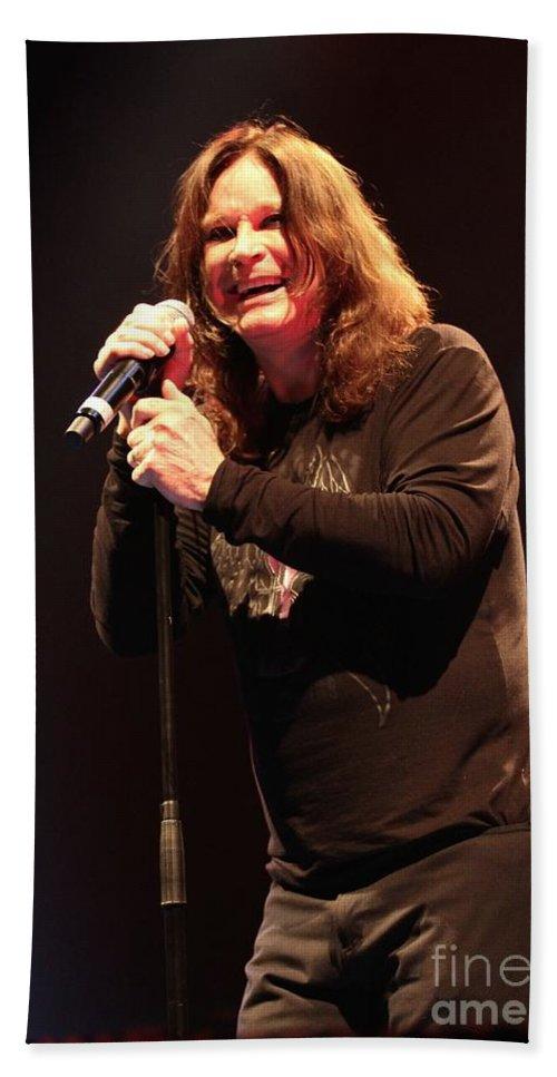 Singer Bath Sheet featuring the photograph Black Sabbath - Ozzy Osbourne by Concert Photos