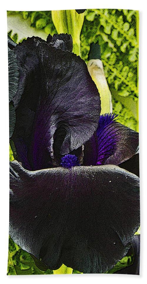 Iris Bath Sheet featuring the photograph Blackbeard Framed by Rob Mclean