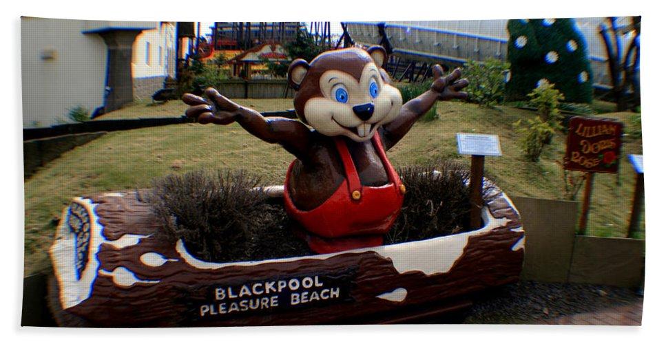 Blackpool Hand Towel featuring the photograph Blackpool Pleasure Beach Lancashire England by Doc Braham