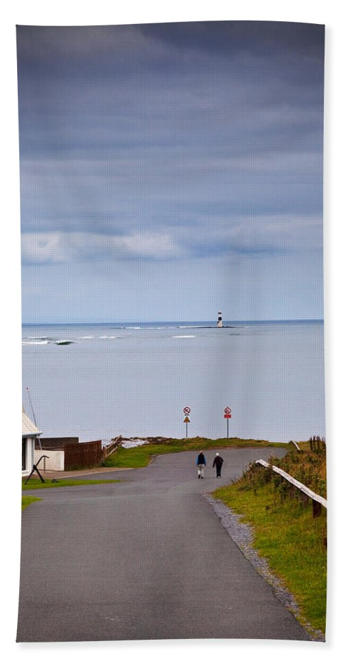 Photography Bath Towel featuring the photograph Blackrock Lighthouse, Off Rosses Point by Panoramic Images