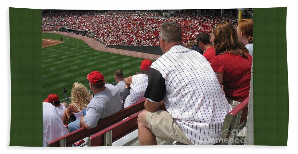 Baseball Hand Towel featuring the photograph Bleacher Seats by Ann Horn