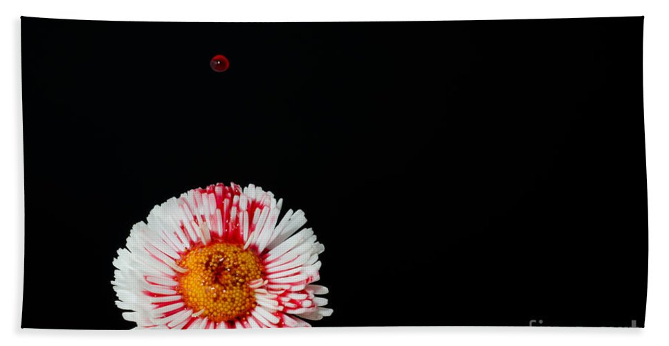 Flower Hand Towel featuring the photograph Bleeding Flower by Mats Silvan