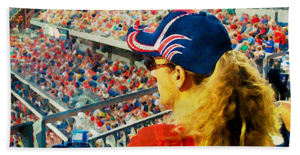 Baseball Bath Sheet featuring the photograph Blonde At The Ballgame by Alice Gipson