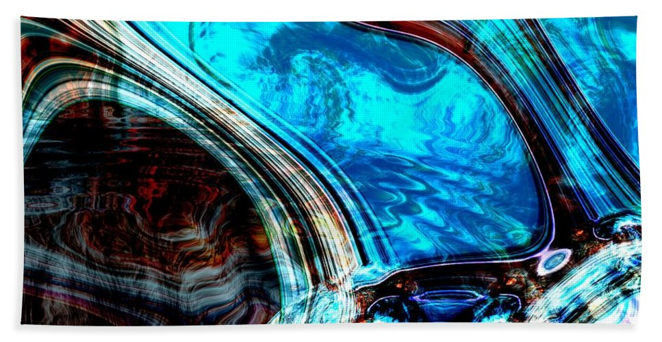 Abstract Hand Towel featuring the digital art Blood Thicker Than Water by Richard Thomas