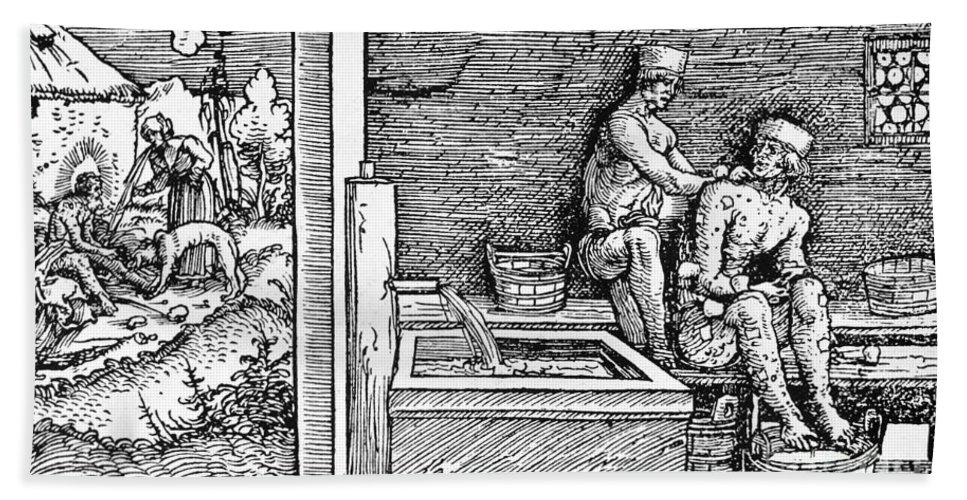 1500 Bath Sheet featuring the photograph Bloodletting, C1500 by Granger