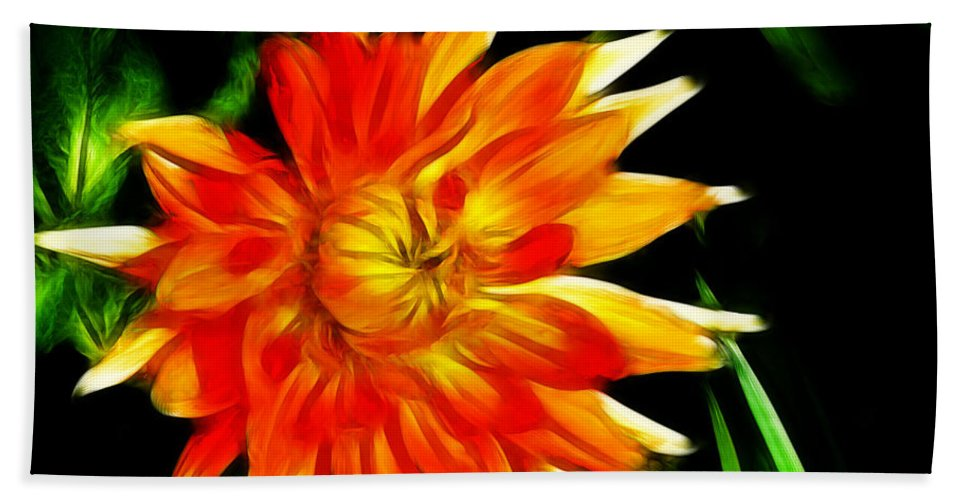 Flowers Hand Towel featuring the digital art Bloom Tine by Bobbie Barth