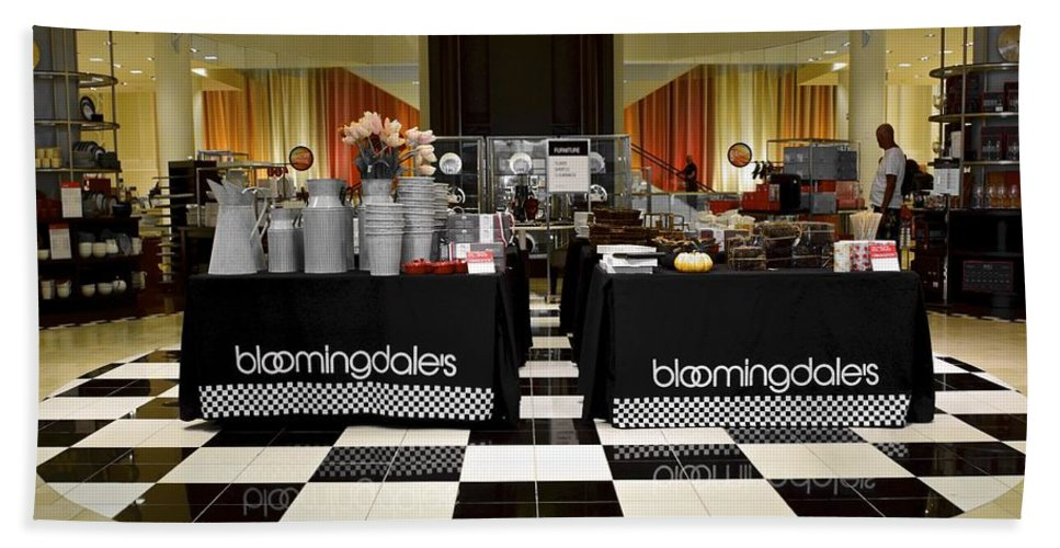 Bloomingdales Bath Sheet featuring the photograph Bloomingdales Showroom Floor by Frozen in Time Fine Art Photography