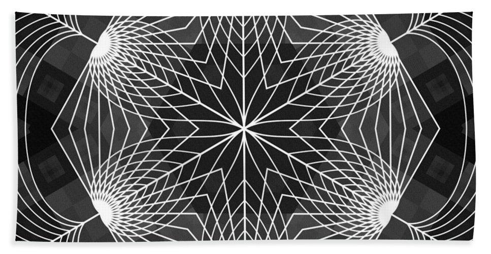 Blossom Cube Hand Towel featuring the digital art Blossom Cube by Derek Gedney