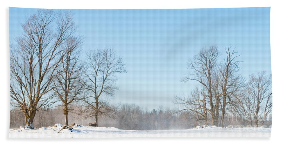 Landscapes Bath Sheet featuring the photograph Blowing Snow by Cheryl Baxter