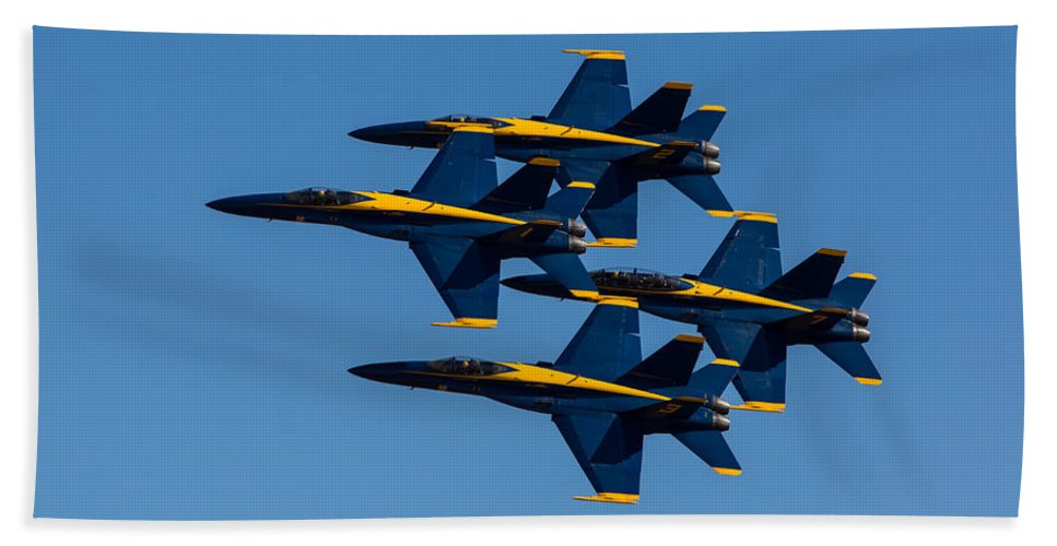 Blue Hand Towel featuring the photograph Blue Angel Diamond by John Daly