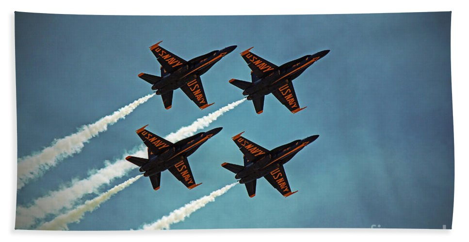 Blue Angels Hand Towel featuring the photograph Blue Angels by Jamie Smith