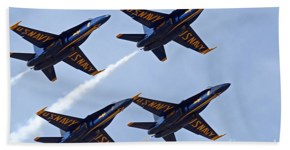 Colorado Hand Towel featuring the photograph Blue Angels Over Colorado by Bob Hislop