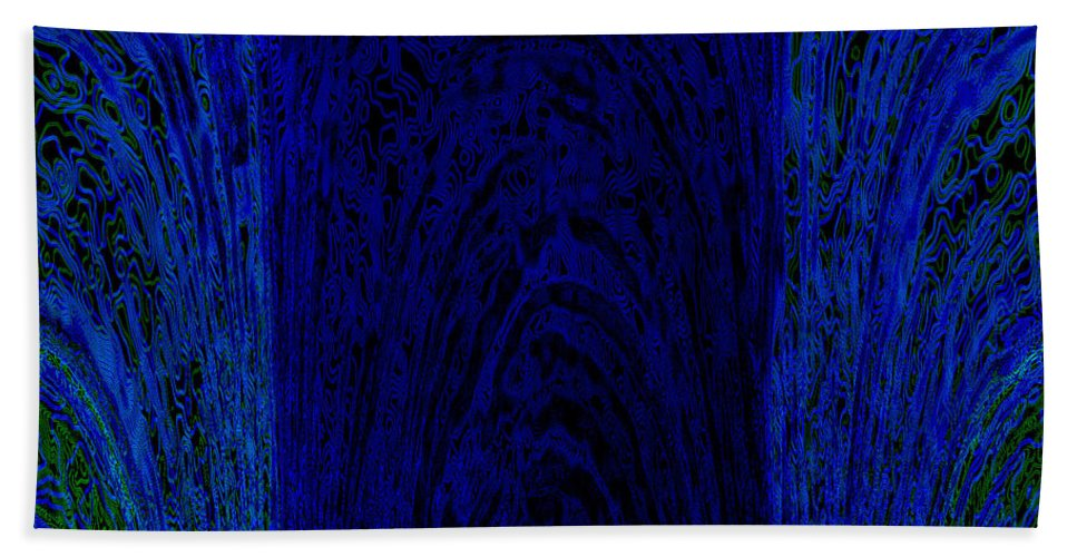 Blue Bath Sheet featuring the painting Blue Archways by Alli Cullimore