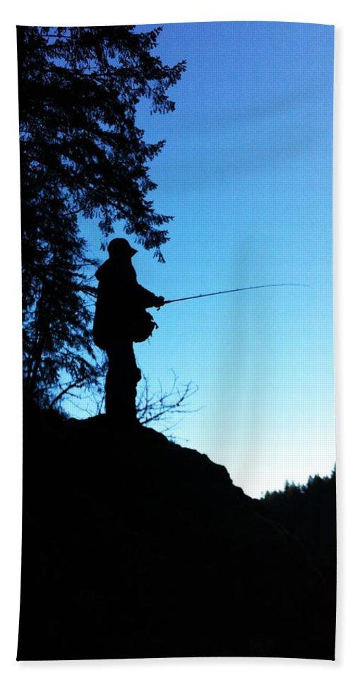Fishing Bath Sheet featuring the photograph Blue Bank by Sara Stevenson