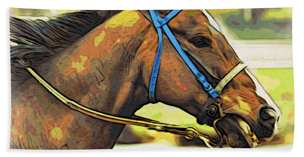 Horse Bath Sheet featuring the photograph Blue Bridle by Alice Gipson