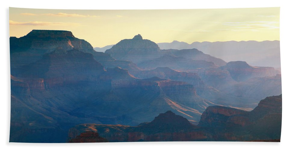 Blue Hand Towel featuring the photograph Blue Canyon by Roupen Baker