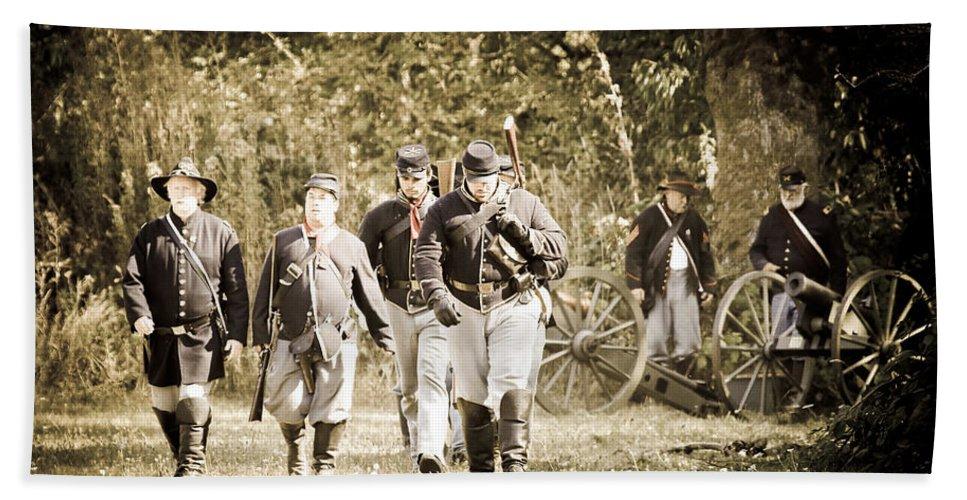 Civil War Bath Sheet featuring the photograph Blue Coats by Athena Mckinzie