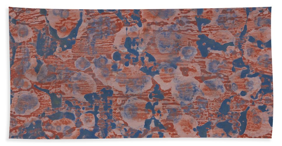 Abstract Bath Sheet featuring the painting Blue by Darice Machel McGuire