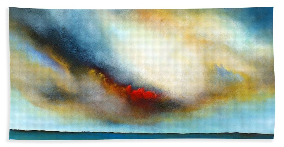Seascape Hand Towel featuring the painting Blue Day by Isabelle Amante