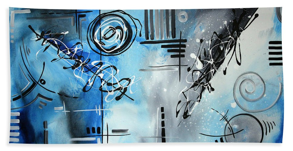Wall Bath Sheet featuring the painting Blue Divinity By Madart by Megan Duncanson