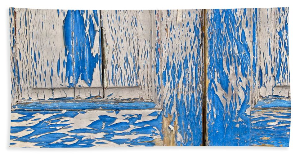 Blue Hand Towel featuring the photograph Blue Doors by Mike Reilly