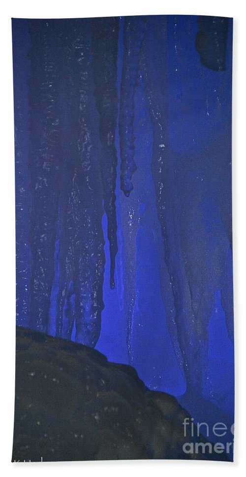 Ice Bath Sheet featuring the photograph Blue Drip by Susan Herber