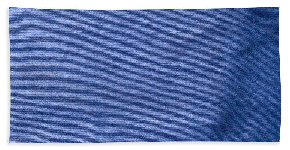 Backdrop Hand Towel featuring the photograph Blue Fabric by Tom Gowanlock