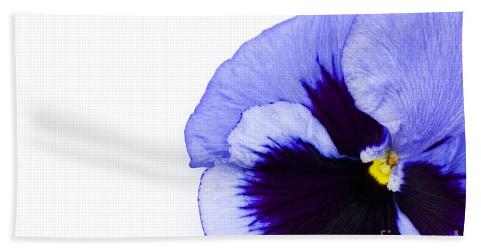 Abstract Bath Sheet featuring the photograph Blue Frost by Anne Gilbert