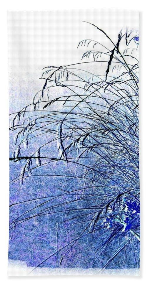 Blue Grass Hand Towel featuring the digital art Blue Grass by Will Borden