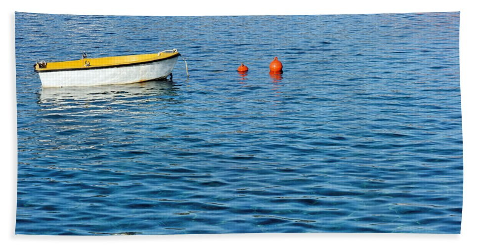 Sea Hand Towel featuring the photograph Blue by Grigorios Moraitis