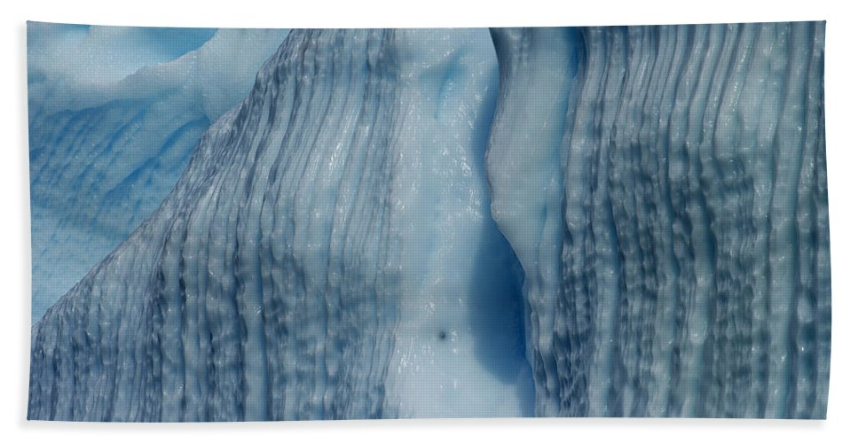 Festblues Hand Towel featuring the photograph Blue Ice... by Nina Stavlund