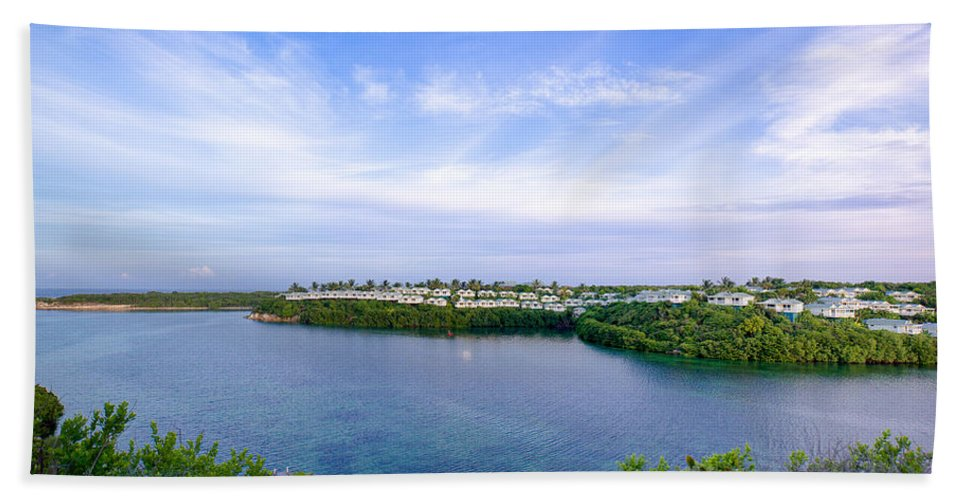 Antigua And Barbuda Bath Sheet featuring the photograph Blue Lagoon Cottages by Ferry Zievinger