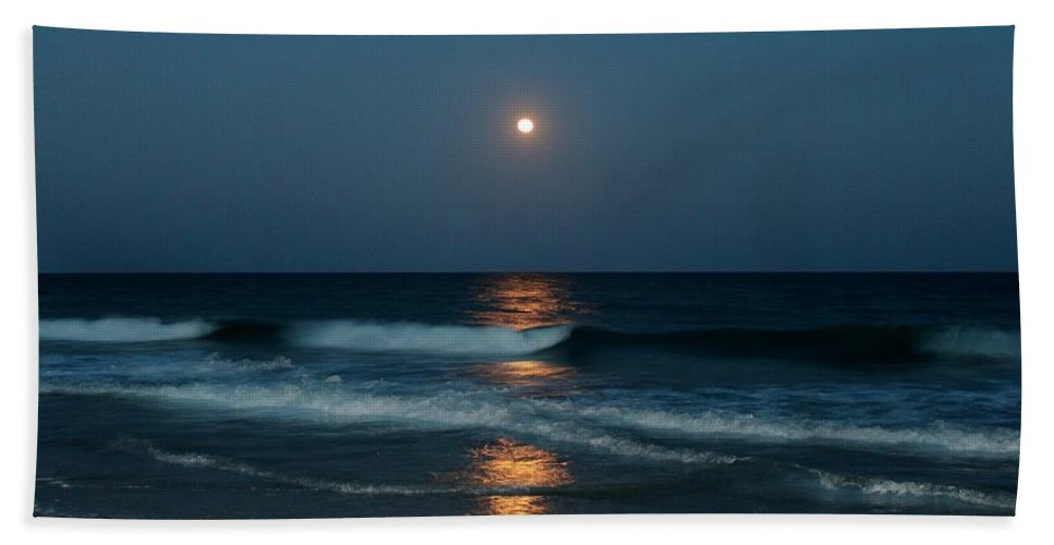 Blue Hand Towel featuring the photograph Blue Moon by Cynthia Guinn